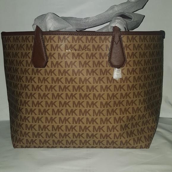b37f935c5318ad Michael Kors Bags   Candy Large Reversible Tote Brown   Poshmark